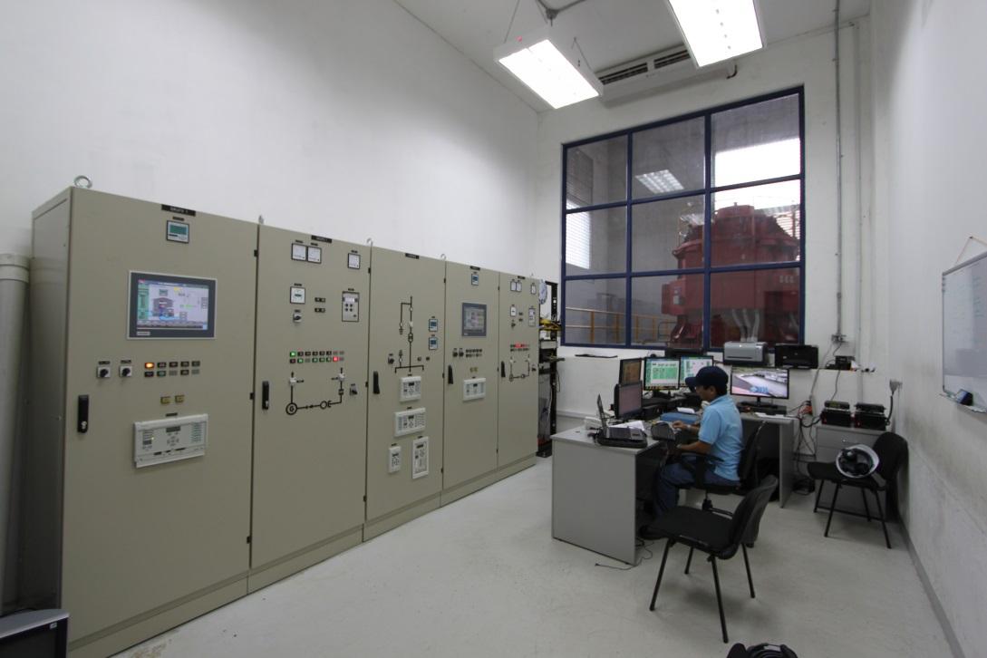 Sala de control - Central hidroeléctrica Pedregalito II, David, Panamá