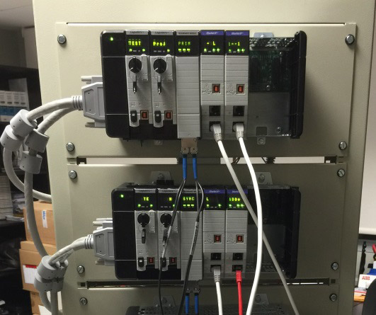 Rack mounting of PLC for programming and testing