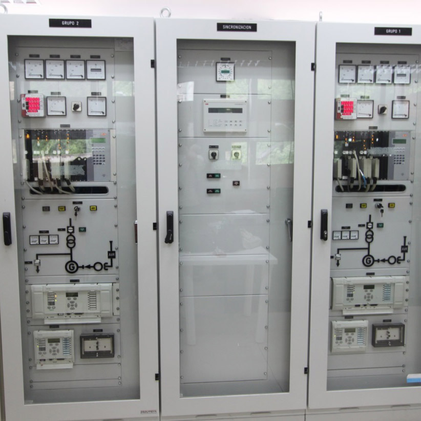 Excitation and synchronization cabinets - Ocaña hydropower plant, Cuenca, Ecuador