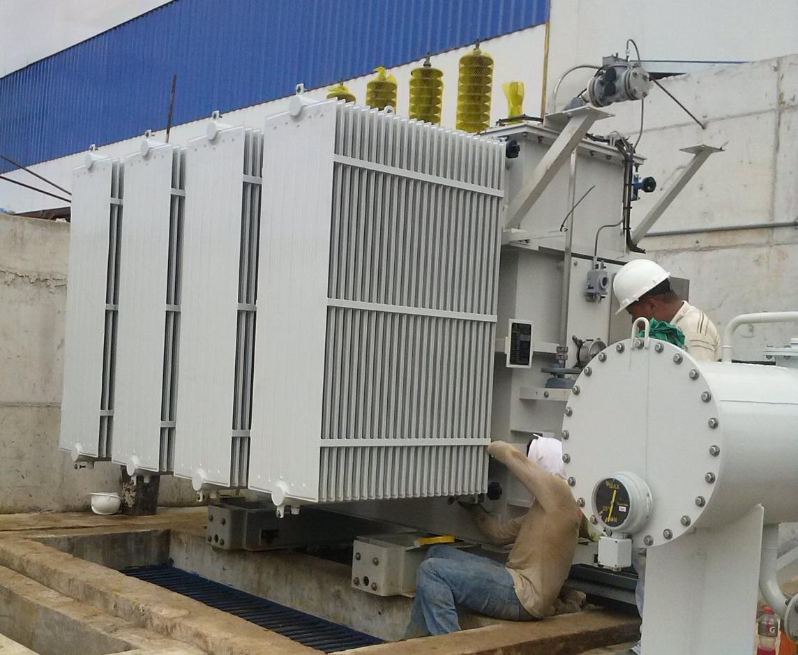 Montaje de transformador principal - Central hidroeléctrica San Lorenzo, David, Panamá